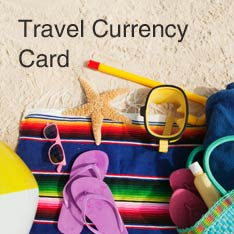 Travel Currency Card - beach towel