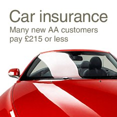 Car insurance. Many new AA customers pay £215 or less