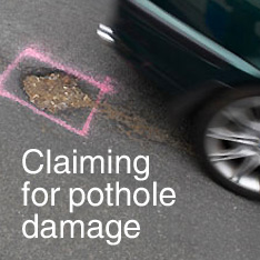 Claiming for pothole damage