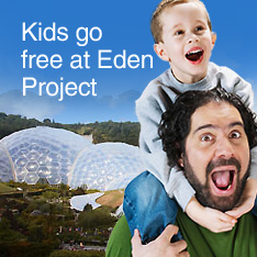 Kids go free at the Eden Project