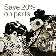 Save 20% on parts