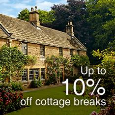 Up to 10% off cottage breaks