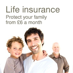 Life insurance. Protect your family from £8 a month