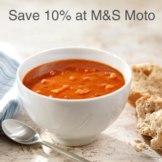 Save 10% at M&S Moto