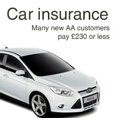 Car insurance. Many new AA customers pay £230 or less