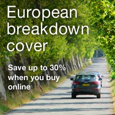 Save up to 30% on European Breakdown Cover