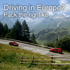 Driving to Europe? Be prepared