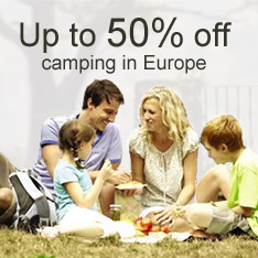 Up to 50% off camping in Europe