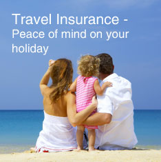Travel insurance - Peace of mind on your holiday