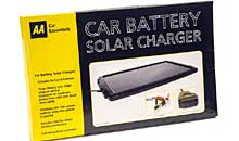 Car battery solar charger