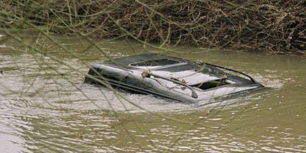 Though rare overall, drowning in motor vehicles accounts for a third of all flood-related deaths