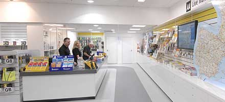 The AA shop at Folkestone (Eurotunnel) helps to ensure that you are fully equipped with all the legal requirements when driving in Europe