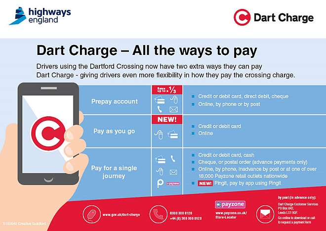 Ways to pay Dart Charge
