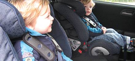 The centre rear seat is the safest place to carry a child in a suitable child restraint