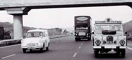 On 5 December 1958, the day the 8 mile Preston bypass opened, the AA was ready to help motorists
