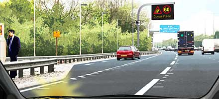 Managed Motorway - All Lanes Running has no hard shoulder