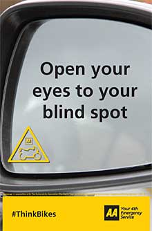 Open your eyes to your blind spot.  Think Bikes!