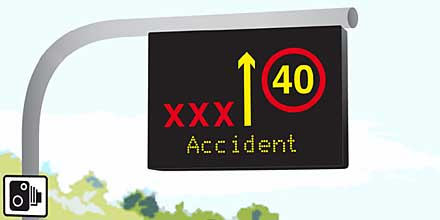 one in 10 drivers say they would disregard 'red X' lane signs