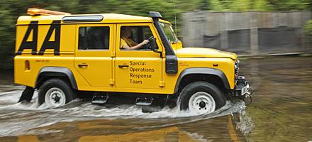 AA SORT flood rescue Land Rovers are named after fish