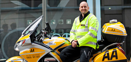 The AA has 50 patrols on motorbikes in six major cities who use their bikes in all but the worst conditions