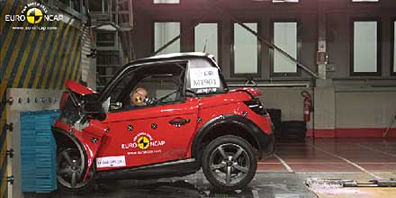 In a special, one-off test, Euro NCAP has tested four heavy quadricycles
