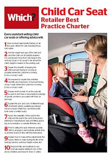 Which? Child car seat retailers best practice charter