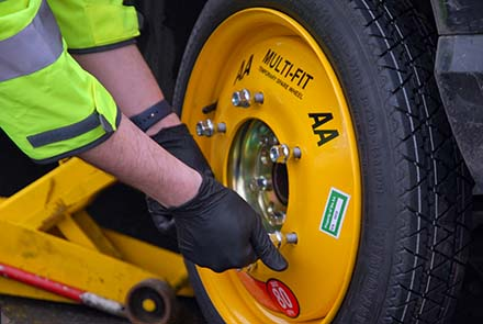 New AA Multi-fit 'spare' saves hours at the roadside
