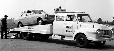 40th anniversary of pioneering vehicle recovery service, originally called AA Relay