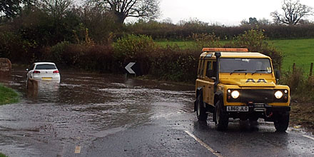 Majority of UK drivers would risk crossing dangerous flood water