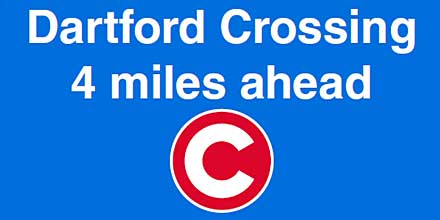 'C' for caution and confusion at Dartford Crossing warns AA