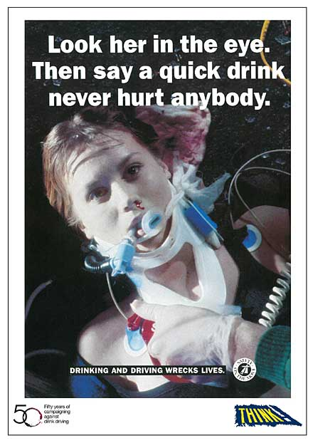 A quick drink never hurt anyone (1992 drink driving campaign)