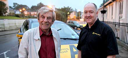 Actor Melvyn Hayes is one of the drivers taking part in Dangerous drivers' school