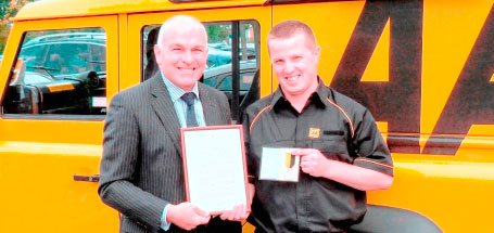 AA patrol receives bravery award