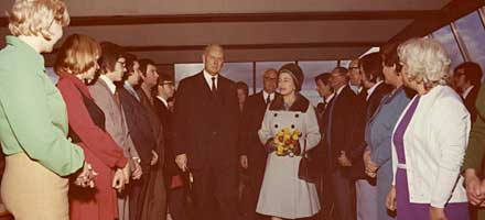 The AA's Basingstoke HQ Fanum House was opened by the Queen on 19 November 1973