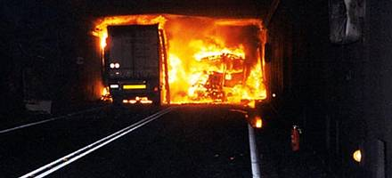 Third of UK drivers risk dying in a road tunnel fire