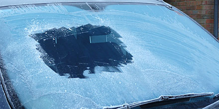 A snow, frost or dirt-covered windscreen is a killer