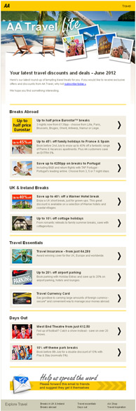 AA travel-lite newsletter