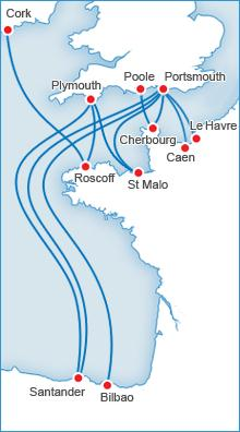 Brittany Ferries routes