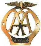 Small car radiator badge, 1930 to 1939