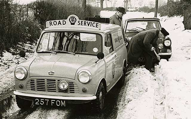 Aa mini in snow