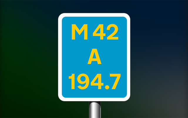 Driver location sign