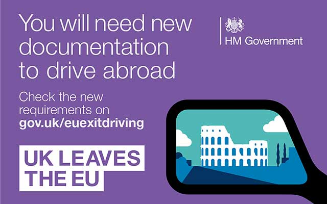you will need new documentation to drive abroad