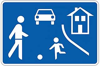 Germany walking pace sign