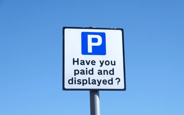 Car park sign for pay and display