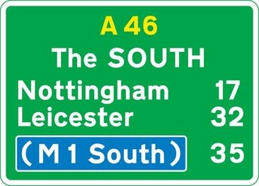 A primary route road sign