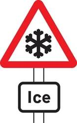 warning sign for ice