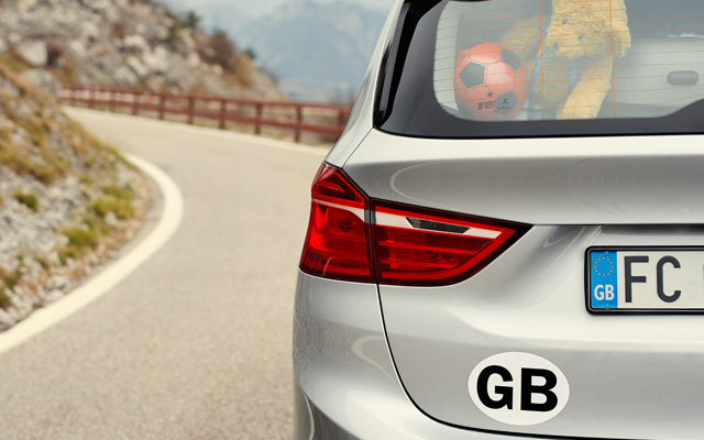 MAGNETIC GB PLATE FOR REAR OF CAR VEHICLE IDEAL FOR DRIVING IN FRANCE EUROPE GB