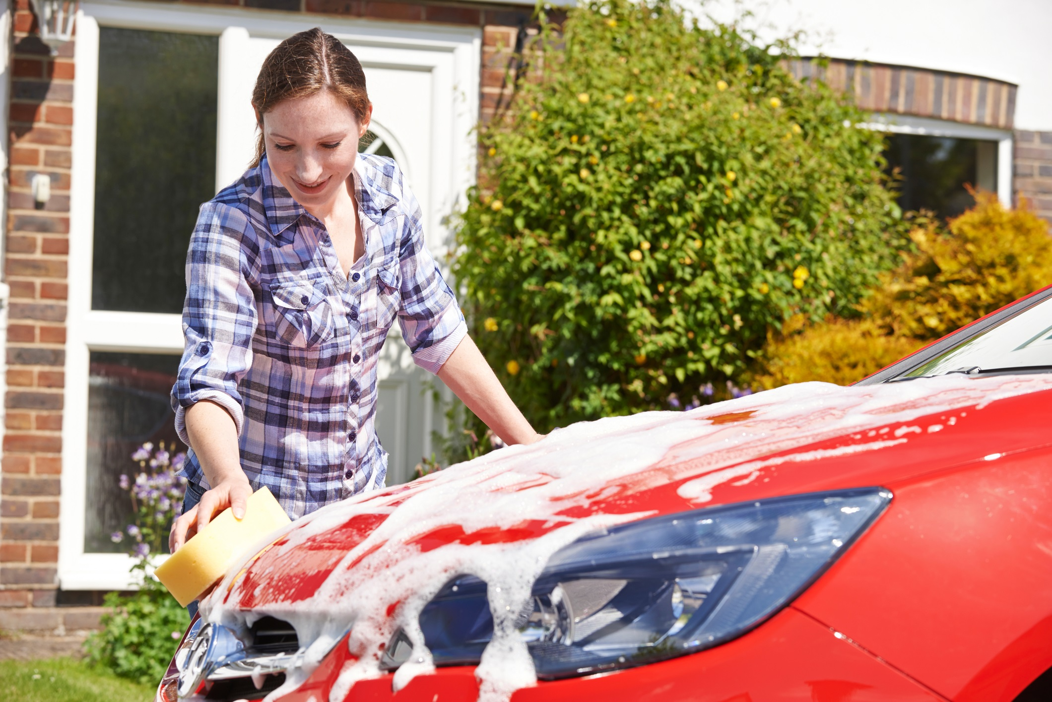 How to wash a car 36
