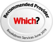 Which? Recommended Provider for Breakdown Services June 2019 - logo