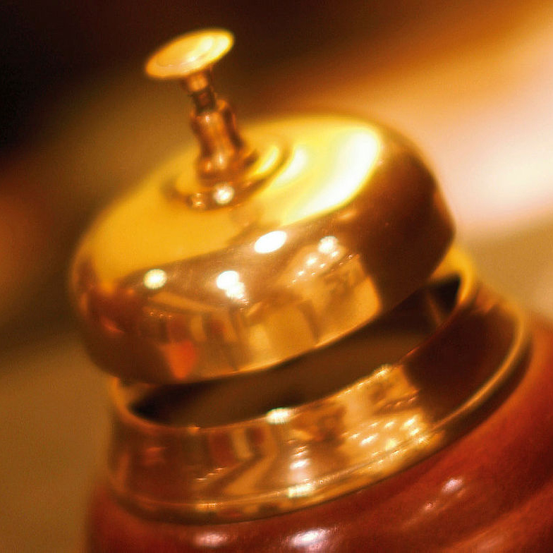 Brass reception bell